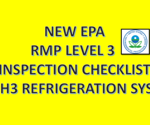 New EPA Inspection Checklist